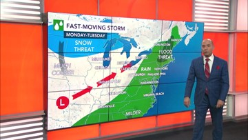 Could a big storm bring snow to the Northeast next week?