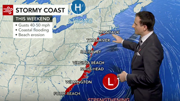 Grinding nor'easter to churn along East Coast this weekend