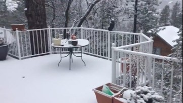 Spring snow continues to linger in California