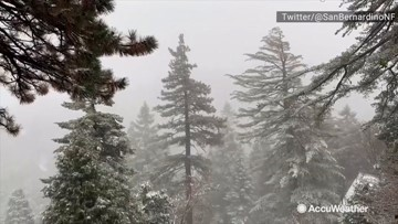 Snow blankets Southern California