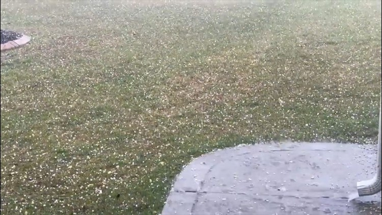 Thunderstorms hammer the southern U.S. with hail