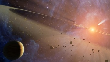 Double the Rubble: Nearby Planetary System Has Two Asteroid Belts