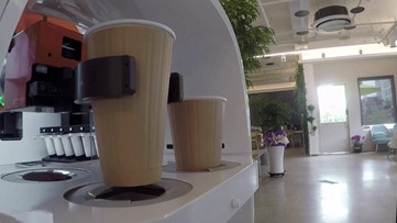 Robot Baristas Reinforce Social Distancing at South Korean Cafe