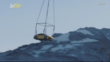 Watch a Helicopter Airlift a Brand New Porsche Through the Alps