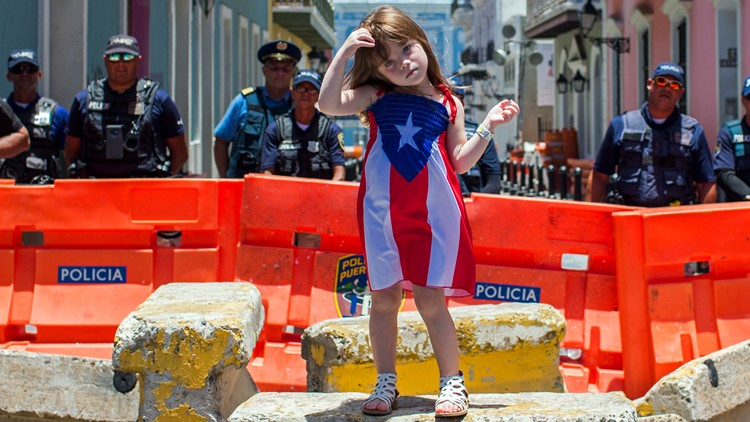 APTOPIX Puerto Rico Protests