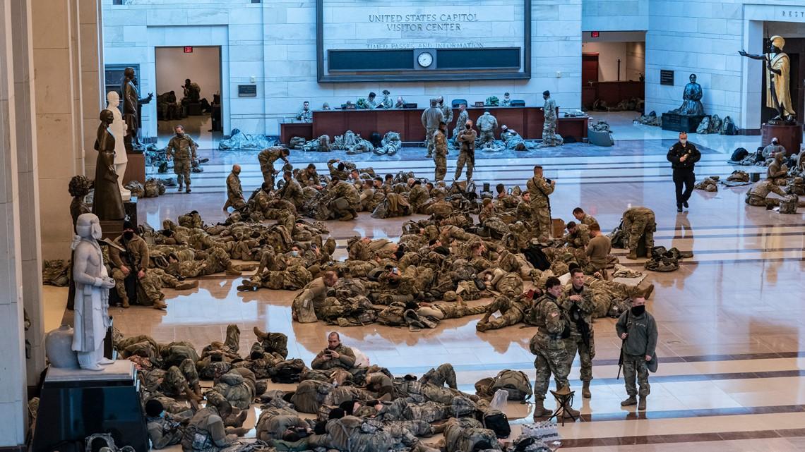 National Guard sleeping in US Capitol echoes Civil War era
