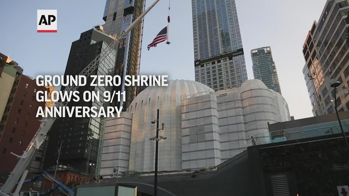 Ground zero shrine glows on 9/11 anniversary