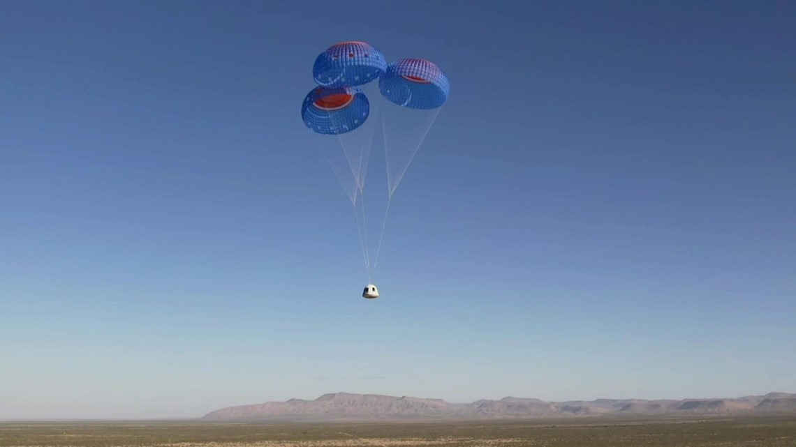 William Shatner, Blue Origin return to Earth after space launch