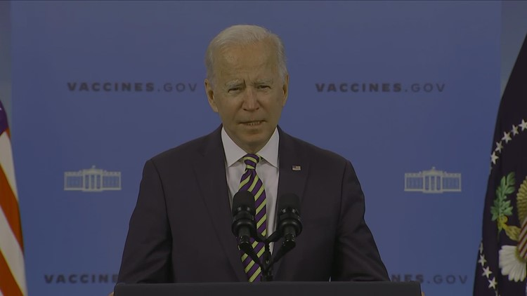 Biden gives update on US vaccine plan