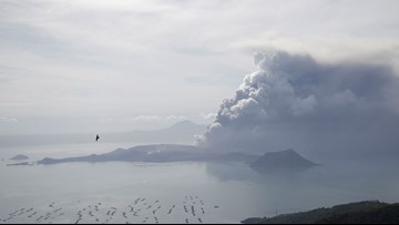 Was the volcanic eruption in the Philippines large enough to influence the climate?