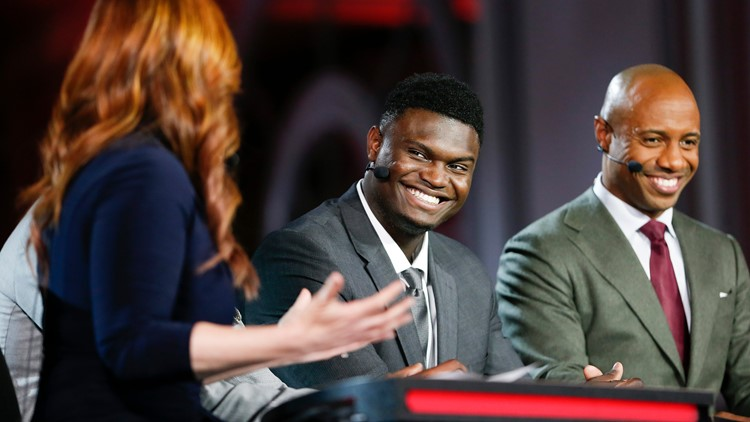 Zion Williamson at NBA Draft Lottery Basketball 2019