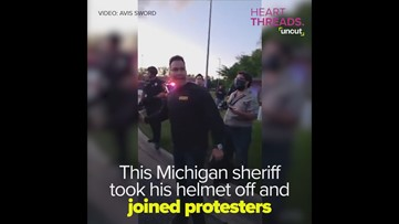 Sheriff joins George Floyd protesters