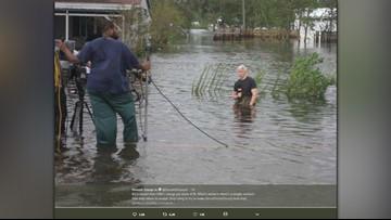 Anderson Cooper addresses viral hurricane photo on CNN