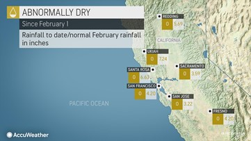 Weekend storm to bring end to record heat, but not to expanding drought in California