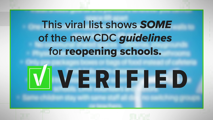 "VERIFY: Viral post about ""New CDC guidelines"" oversimplifies real CDC information."