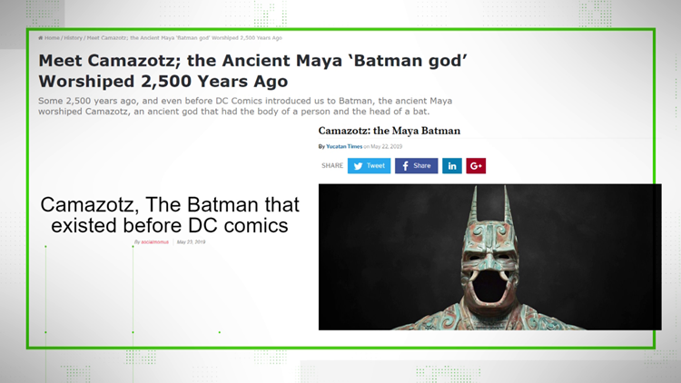 VERIFY: Mayan BatMan