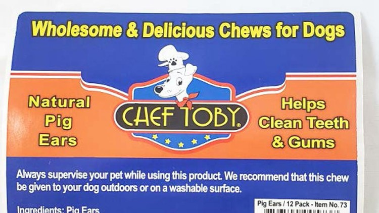 Chef Toby Natural Pig Ears dog treats