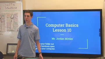 Teen teaches seniors about technology