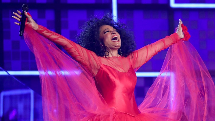 Diana Ross wows in Grammys performance