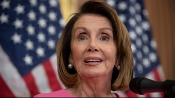 Nancy Pelosi being honored with JFK Profile in Courage Award