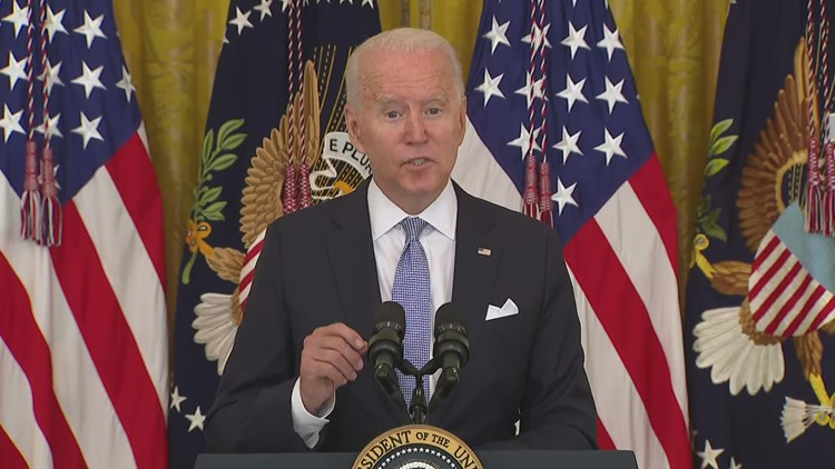 Biden lays out case for COVID-19 vaccination, talks booster shots