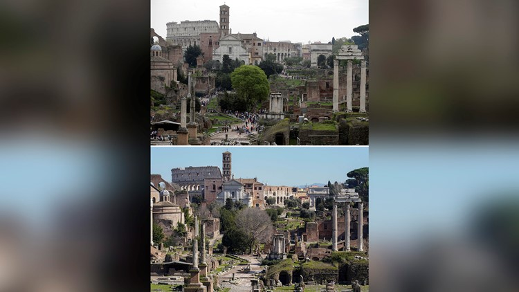 Italy Virus Outbreak Then and Now Photo Gallery