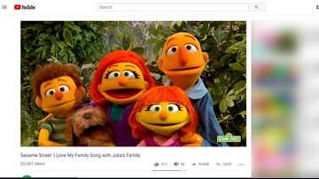 'Sesame Street' introduces Julia's family for Autism Awareness Month