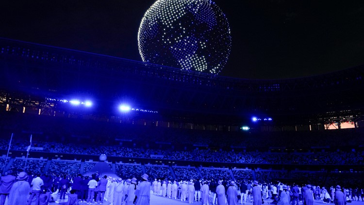 Stunning drone display dazzles during Tokyo Opening Ceremony