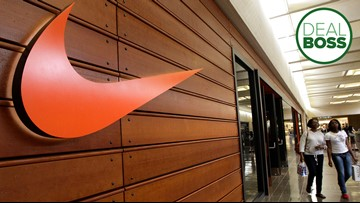 Nike shoes are half price today!