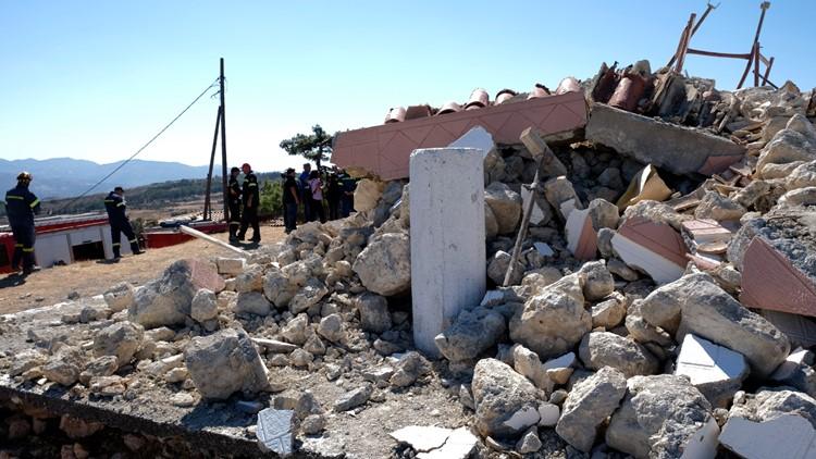 Strong quake hits Greek island of Crete; 1 dead, 9 injured