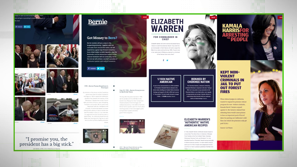 VERIFY: Fake campaign sites sharing satire and falsehoods about 2020 hopefuls