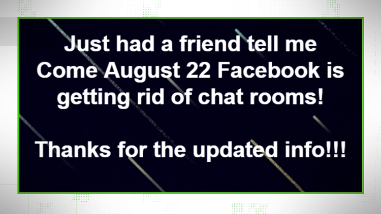"""VERIFY: Facebook is getting rid of chat rooms in """"groups,"""" but they're not getting rid of """"group messages."""""""