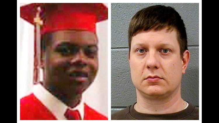 Jurors heard opening arguments Monday from lawyers in controversial case in which white officer shot black teen 16 times