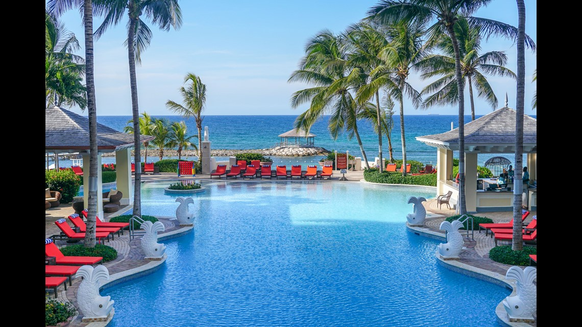 The Pool At Jewel Grande Montego Bay Is Steps From Caribbean Sea