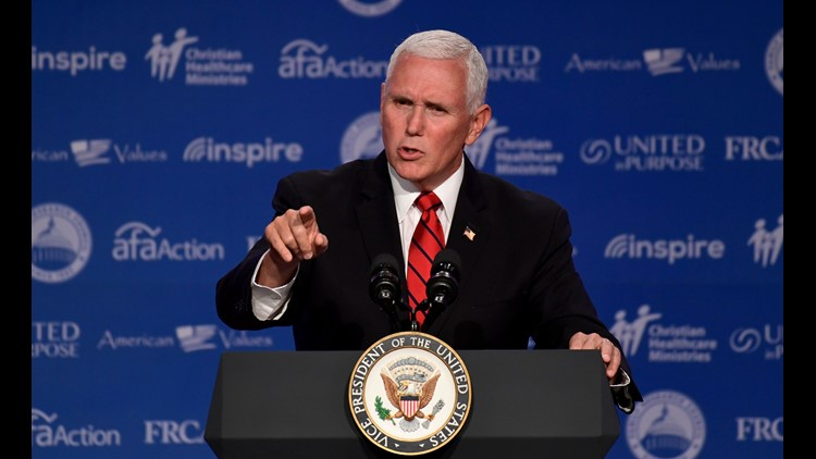 'We will not stand down,' VP Pence warns China