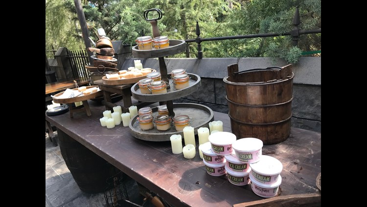 Universal Studios Hollywood adds to its collection of Hogsmeade goods with sweet treats and pricey clothing for adults.