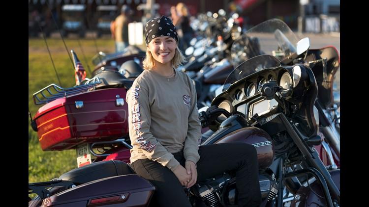 Harley-Davidson intern logs 8,000 miles on her motorcycle, joins dad