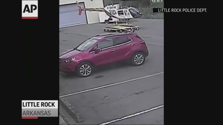 Video released of police chopper crash in Arkansas