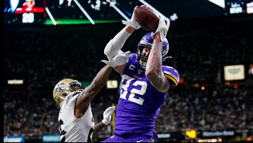 Thousands raised for charity in wake of Vikings TE's game-winning gloves scam