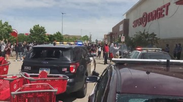 Police respond to looting at a Minnesota Target