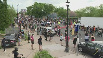 Large protests erupt in Minneapolis over George Floyd's death in police custody