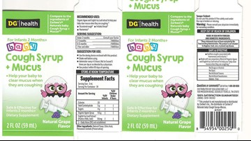 Baby cough syrup recalled for infant vomiting, diarrhea risk