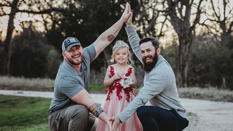 Viral dads Dylan Lenox and David Lewis