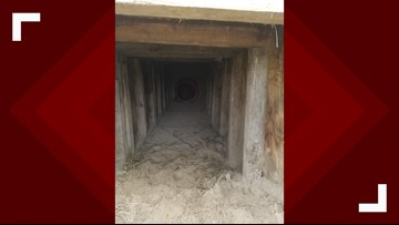 Border agents discover presumed smuggling tunnel near border fence in Texas