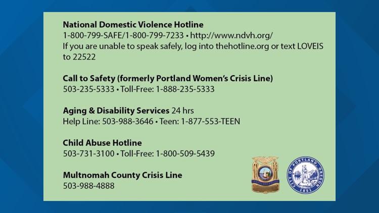 Resources for domestic violence survivors in Portland