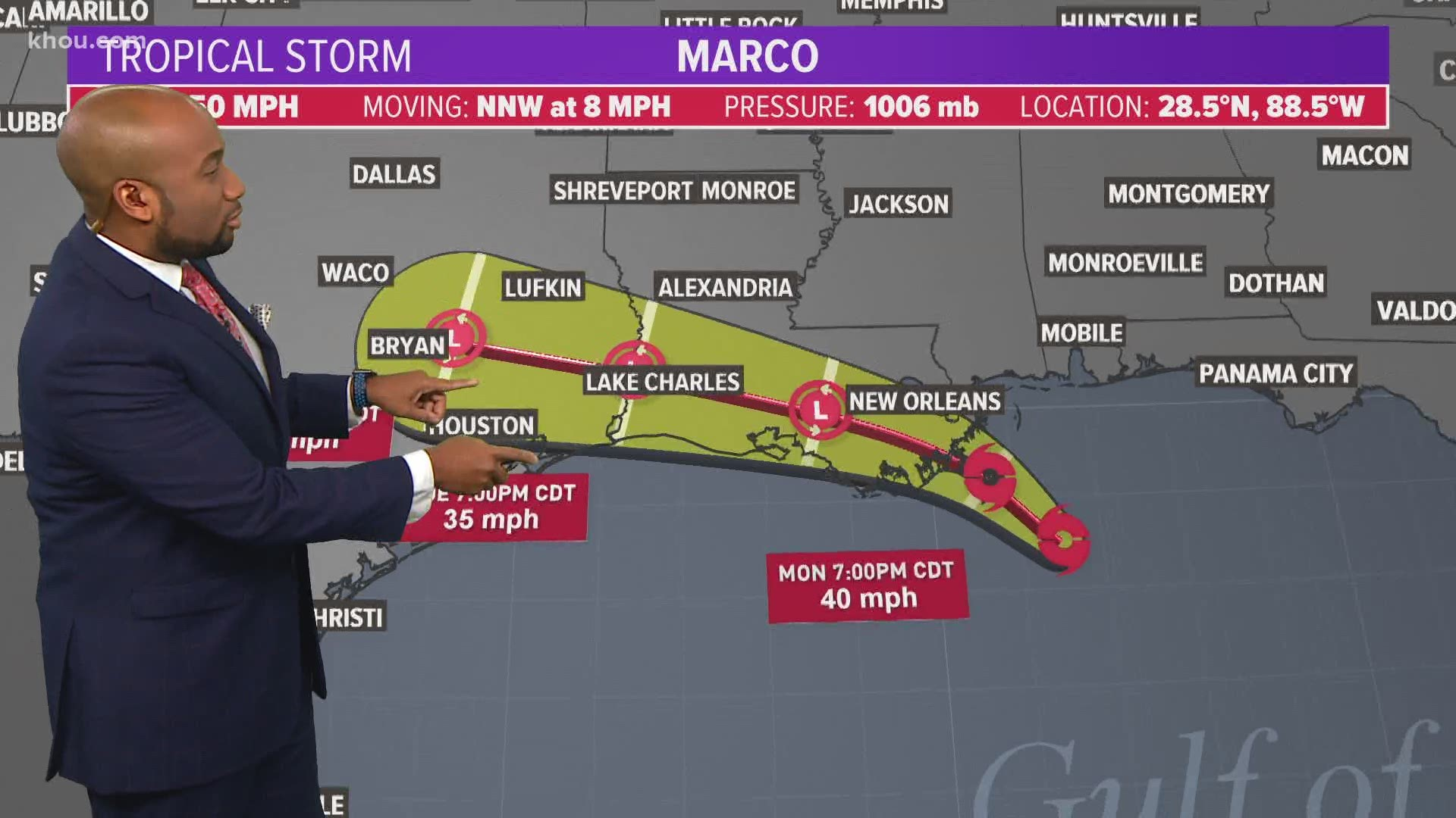 Texas Weather Tropical Storms Marco Storm Laura Paths Models Newscentermaine Com
