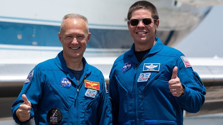 NASA astronauts Douglas Hurley and Robert Behnken