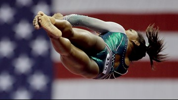 Olympic gymnast Simone Biles becomes first person ever to land double-double dismount
