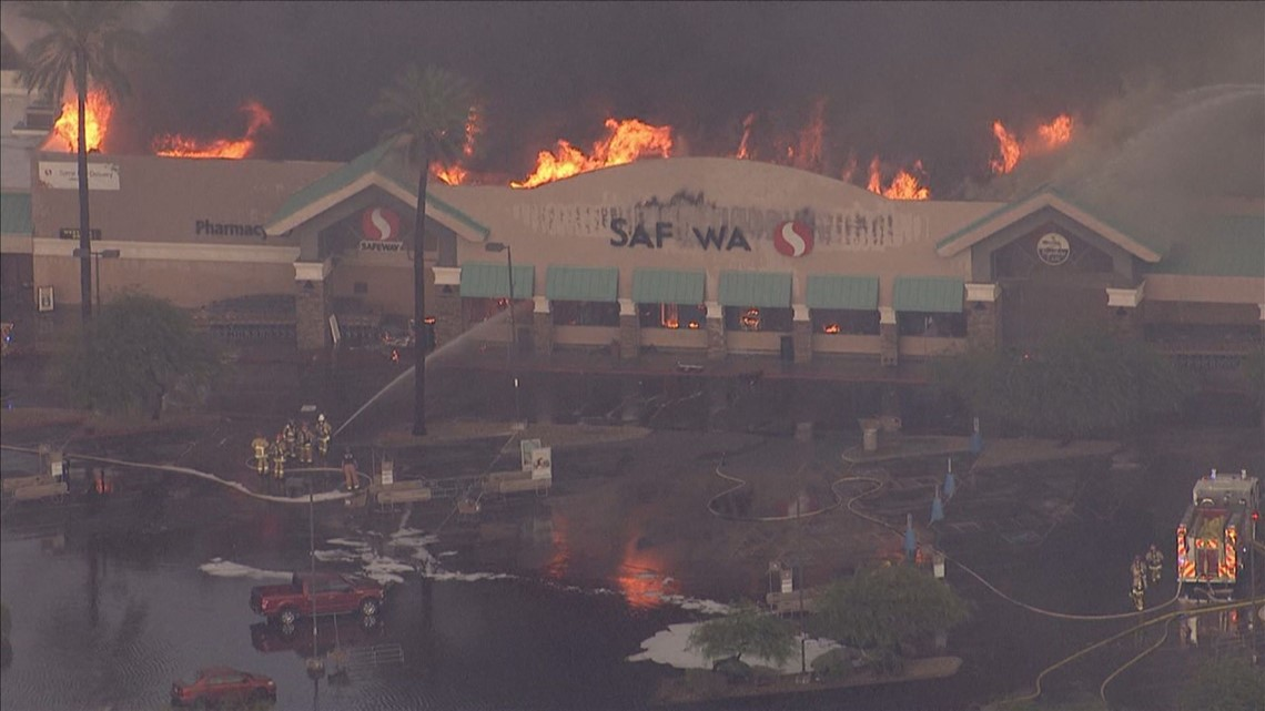 Fire officials confirm storm played for Fish store phoenix