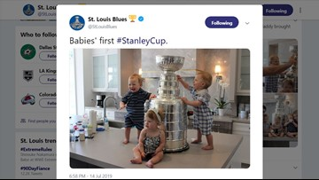 The most adorable photo of this Stanley Cup Summer has arrived!